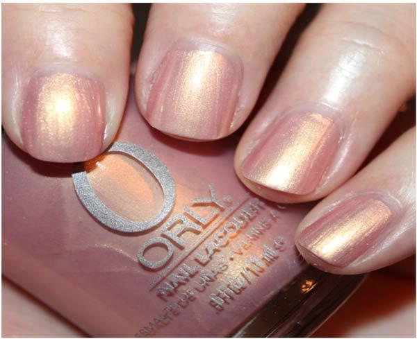 orly gilded coral nail polish