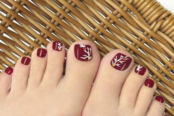 Painted Toe Nails - Summer Makeup And Skin Care Products