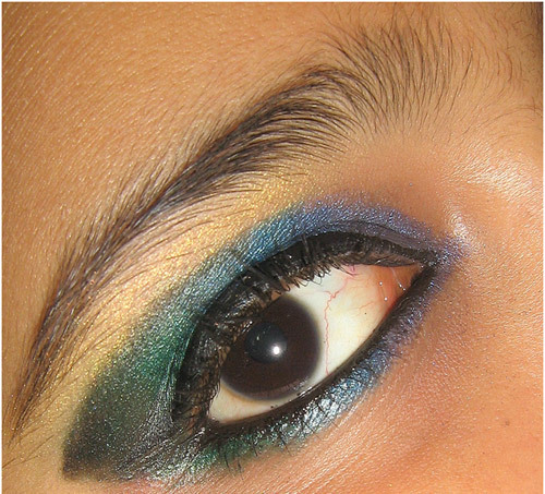 peacock eye makeup