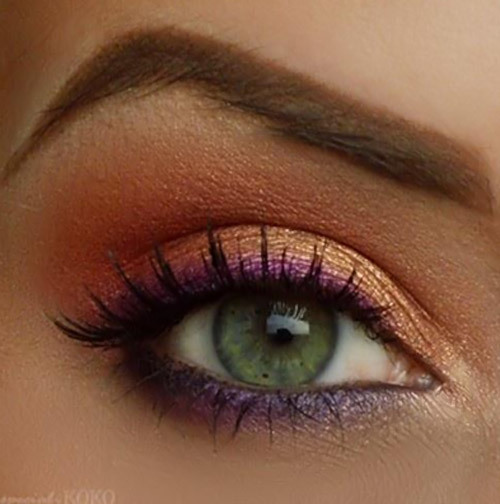Beautiful Eye Makeup Pics - Pink Gold Eye Makeup Look