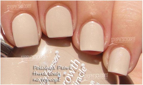sally hansen pearl nail polish