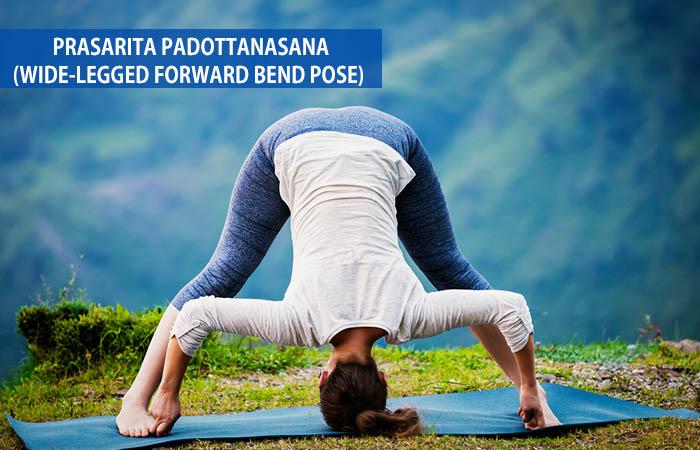 7. Prasarita Padottanasana (Wide-Legged Forward Bend Pose)