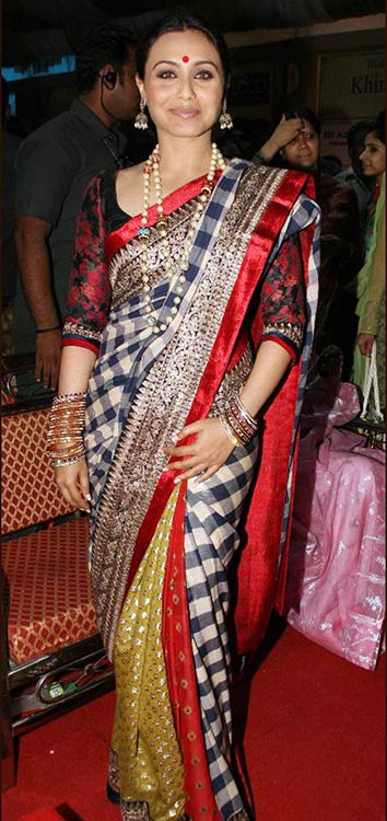 Rani Mukherjee In Checks Saree