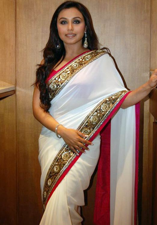 Rani Mukherjee In White Saree