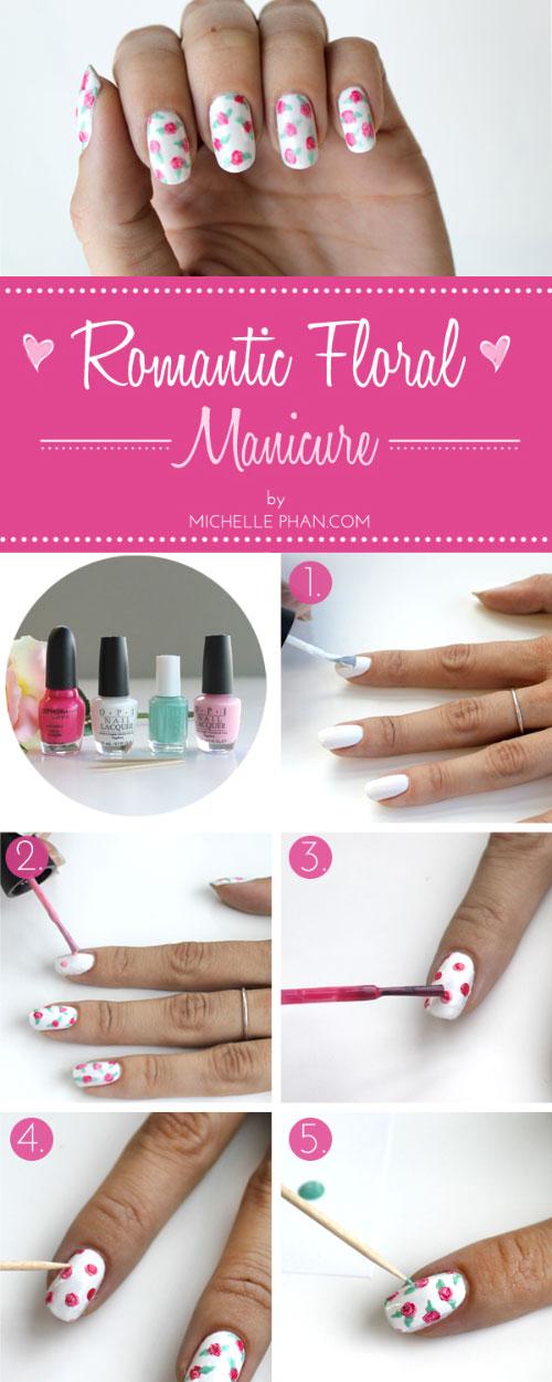 Romantic Rose Nail Art