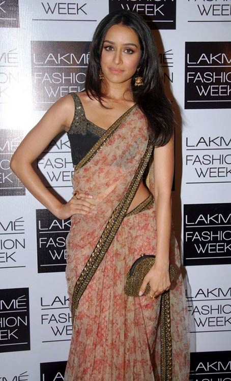 Shraddha-Kapoor-In-Beige-Saree