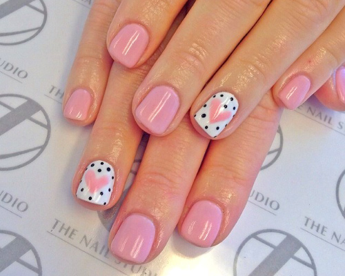 Soft Hearted Nail Design