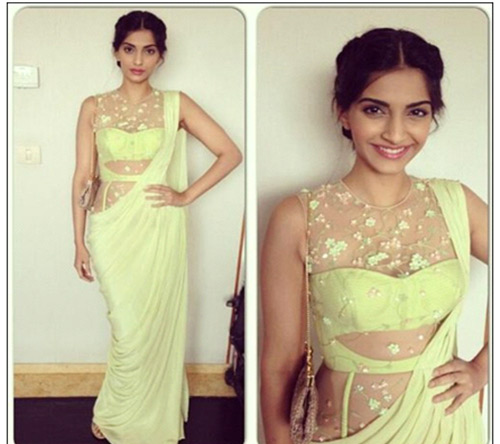 Sonam Kapoor In A Green Saree