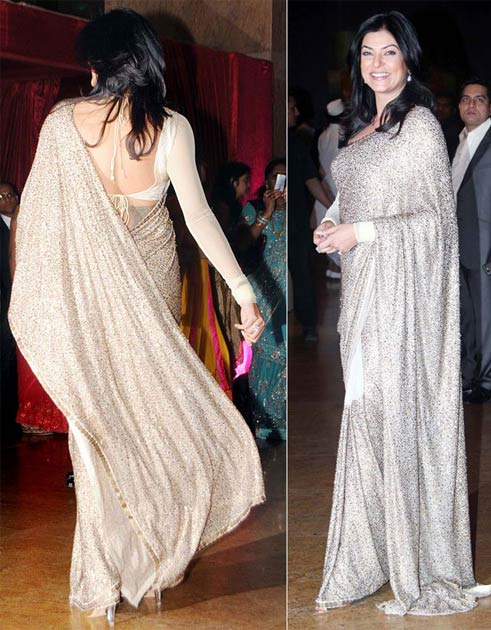 Sushmita Sen In Off-White Saree