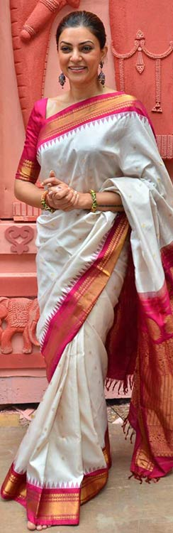 Sushmita Sen In White And Pink Saree