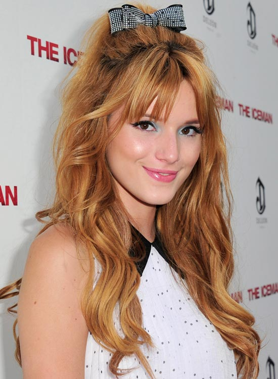Tousled-Waves-with-Mini-Bouffant,-Sexy-Fringes-and-Bow