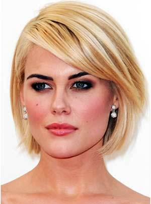 short hairstyles for triangular faces