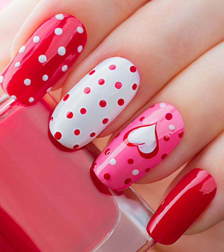 Valentine's-Day-Inspired-Nail-Art-Tutorials - Top 25 Valentine's Day Nail Designs (With Hearts And Roses)
