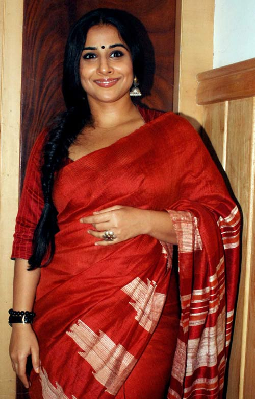 Vidya Balan Looks Gorgeous In Red Saree