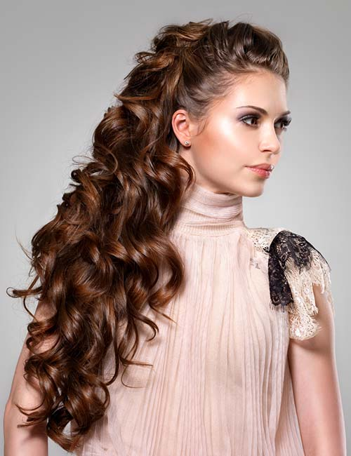 Voluminous Half Updo