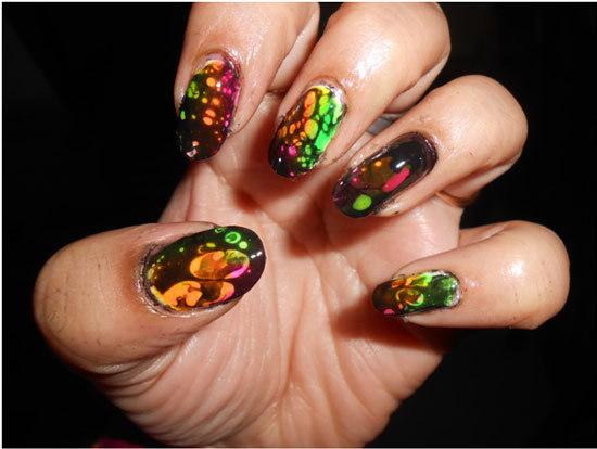 block colour nail design