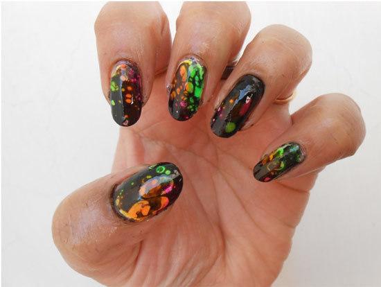 block colour nail polish