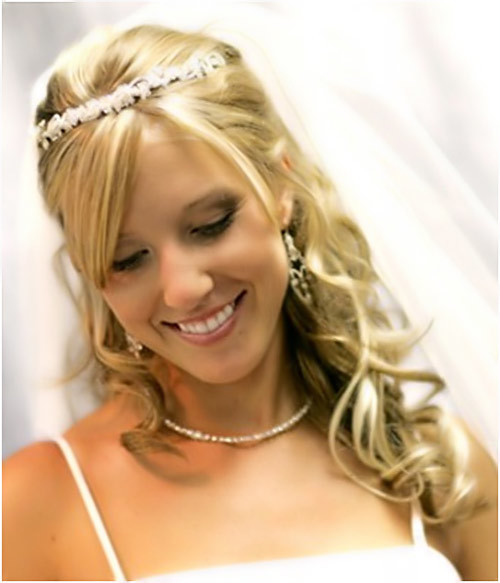 Wedding hairstyles for long hair down with tiara : New gorgeous bridal hairstyles for long hair designers fashion