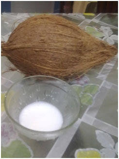 coconut and squeeze out the milk