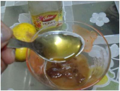 hone with lemon juice