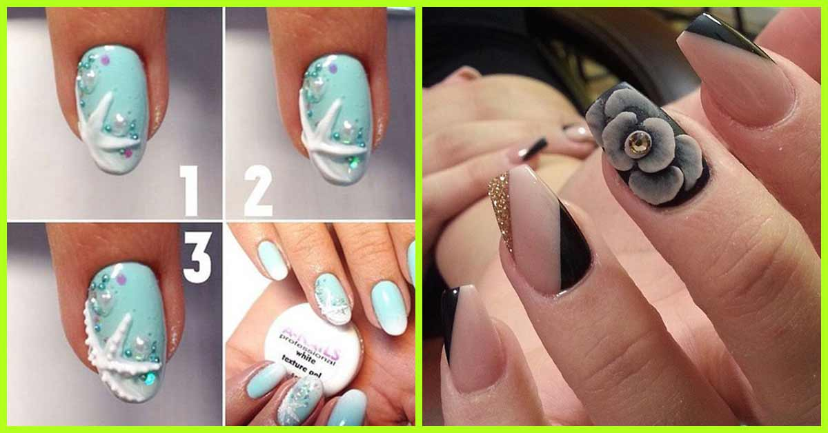 - 30 Stunning DIY 3D Nail Designs For Beginners Of 2018
