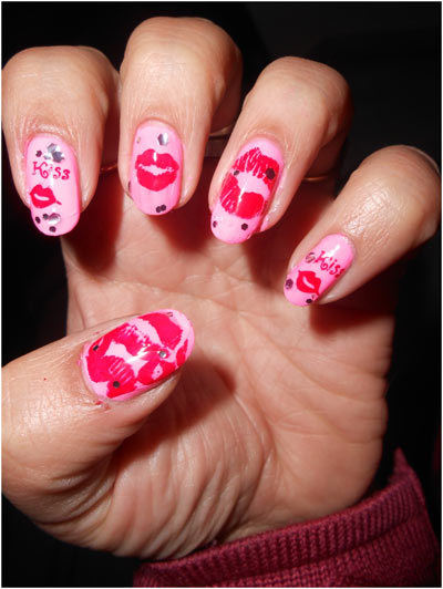 nail art designs for valentine's day