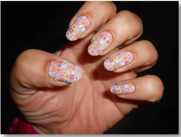 manicure nail art design