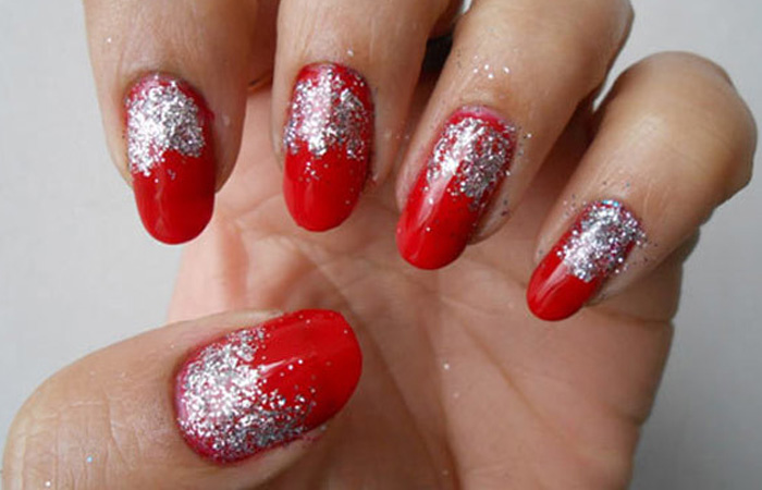 Diy easy glitter nail arts nail art final look1 solutioingenieria Image collections