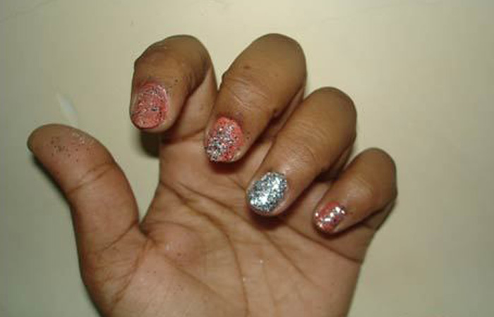 Eenvoudige Glitter Nail Arts Tutorial Nail Art Health And Beauty