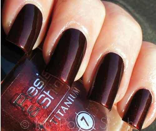 reddish brown shade nail colour