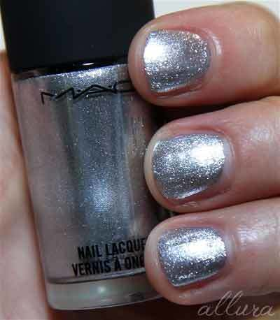 shimmery silver polishes