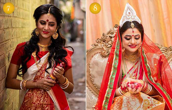 Beautiful Indian Bridal Makeup Looks - Modern Bengali Bridal Looks