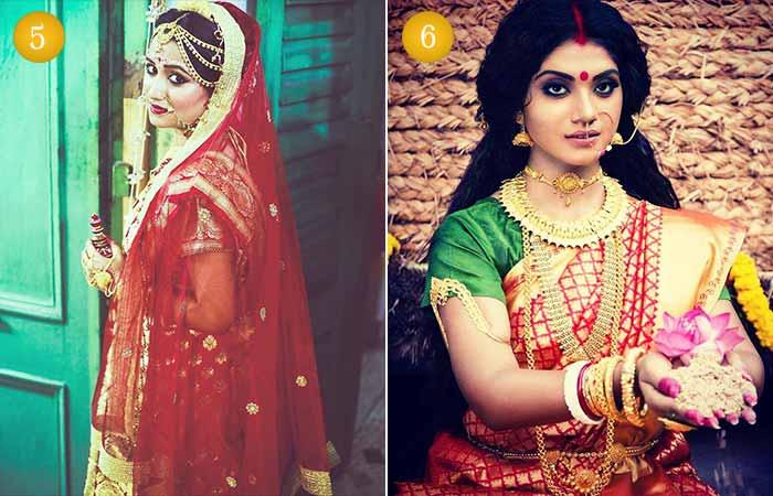 Beautiful Indian Bridal Makeup Looks - Bengali Dulhan Look