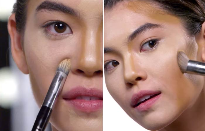 How To Contour Your Face - Blending For Round Face