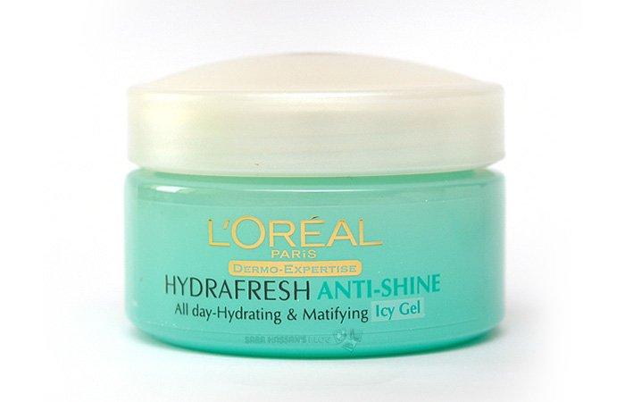 4. L'Oreal Paris Hydrafresh Anti-Shine Icy Gel