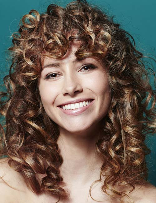 Short Curly Hair With Bangs And Layers 32