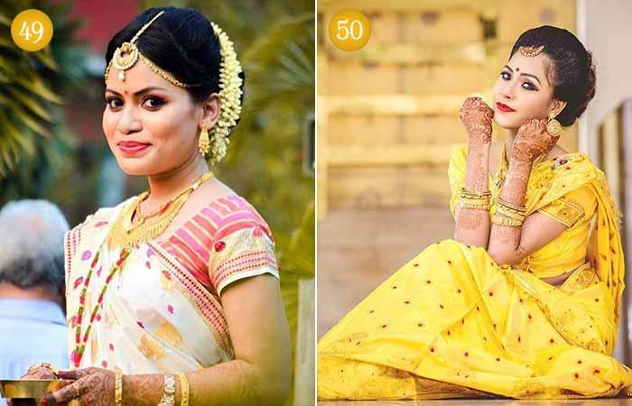 Beautiful Indian Bridal Makeup Looks - Assamese Brides 1 & 2