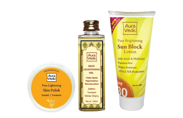 Auravedic Pure Brightening Whitening Radiance Sunblock Lotion SPF 30