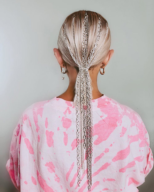 Chain Ponytail