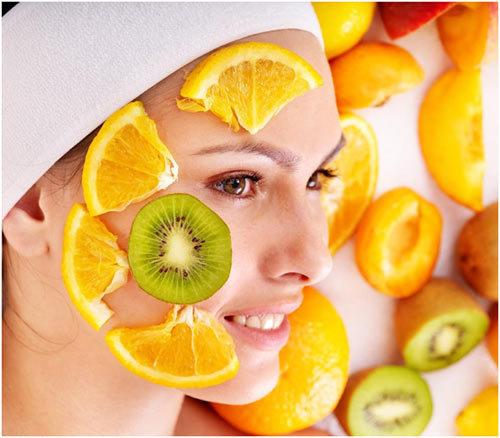 fruta facial en casa para las mujeres