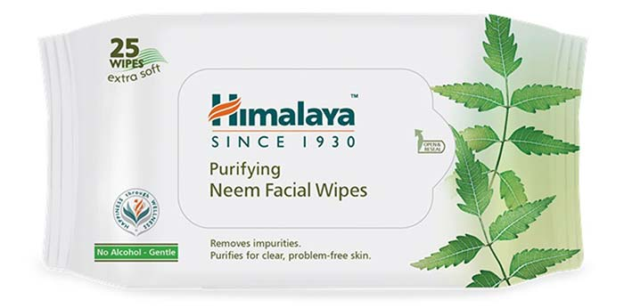 Himalaya Purifying Neem Facial Wipes - Himalaya Products