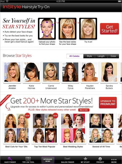 Instyle HairstyleTry On