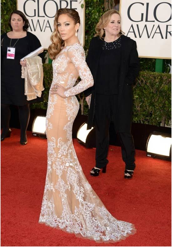 jennifer lopez red carpet dress