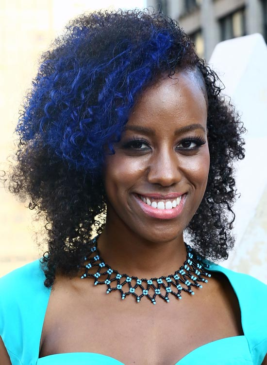 Blue hairstyles for black women