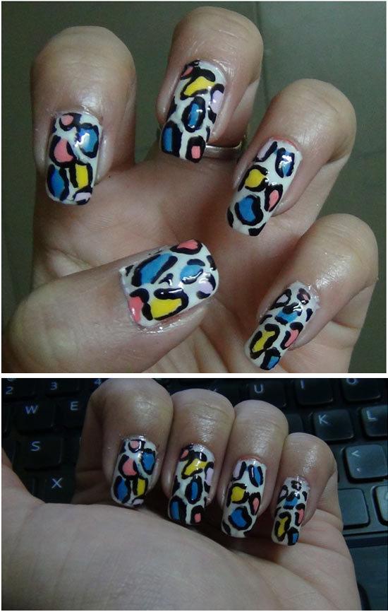 snow leopard nail art 2
