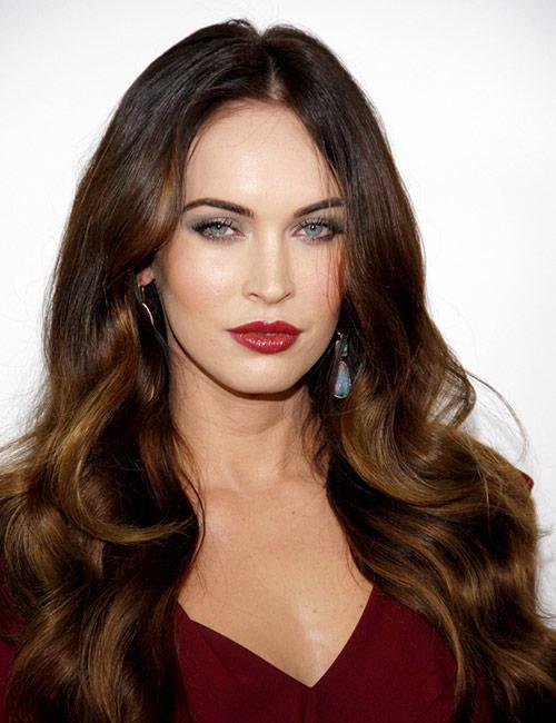 Megan Fox's Long Brown