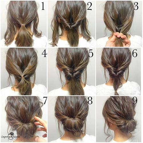 Messy Double Flipped-In Bun