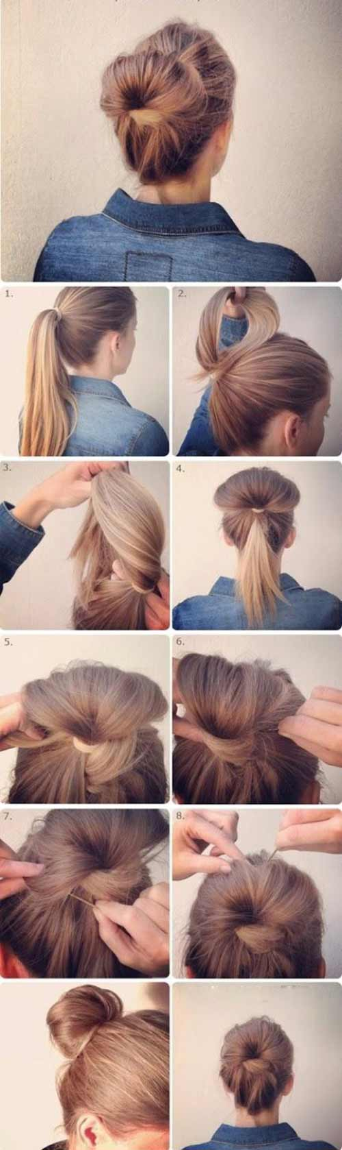 Messy Flipped-In Bun