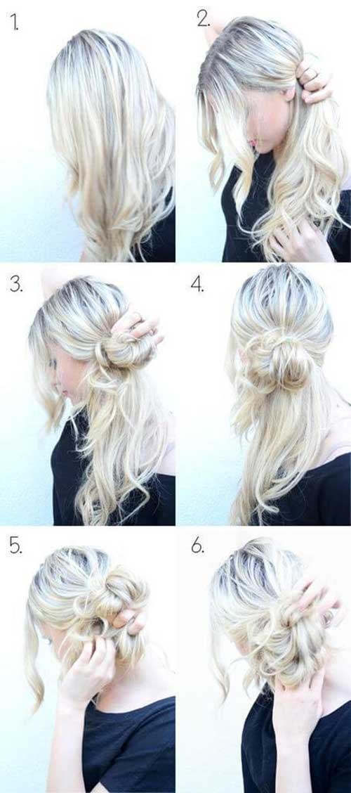 Messy Low Side Bun