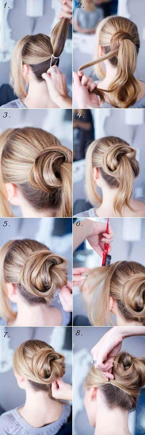 Messy Wrap Around Bun